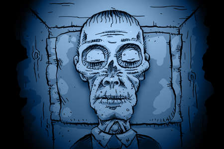 corpse: A quiet corpse rests peacefully.