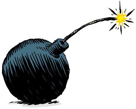 bombe: Une bombe de dessin animé. Banque d'images