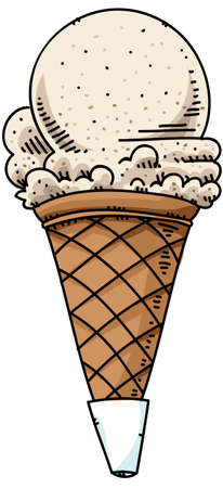 A cartoon ice cream cone. 版權商用圖片