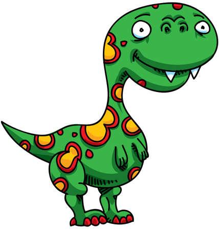 primeval: A green, cartoon dinosaur.