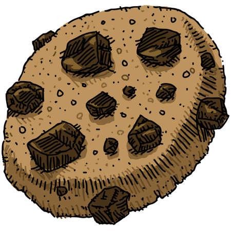 Un chocolate galletas con trocitos de dibujos animados. Foto de archivo - 11431503
