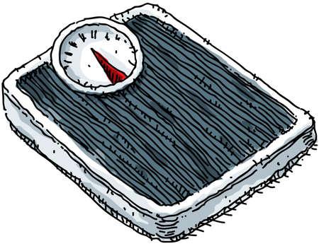 A cartoon weight scale. Stok Fotoğraf