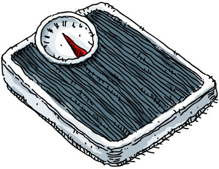 gewicht skala: Eine Karikatur Waage.
