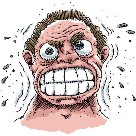 Een man ervaart een grote hoeveelheid stress. Stockfoto - 11431517