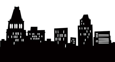 Cartoon skyline silhouette of the city of Greensboro, North Carolina, USA.  Archivio Fotografico