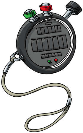 A cartoon stopwatch with start and stop buttons. Stock fotó