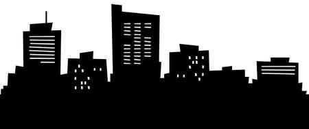 Cartoon skyline silhouette of the city of Midland, Texas, USA.