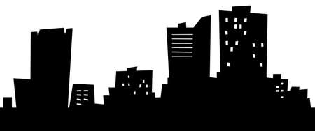 Cartoon skyline silhouette of the city of Fargo, North Dakota, USA.  photo