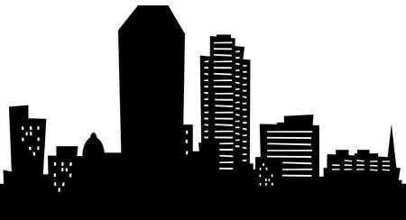 Cartoon skyline silhouette of the city of Lexington, Kentucky, USA.