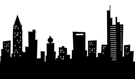frankfurt: Cartoon skyline silhouette of the city of Frankfurt, Germany.