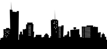 Cartoon skyline silhouette of the city of Essen, Germany.