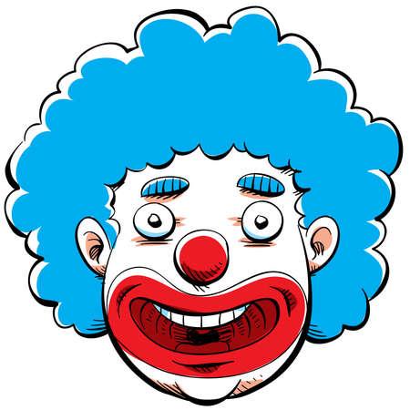 clown face: Cartoon face of a happy clown.