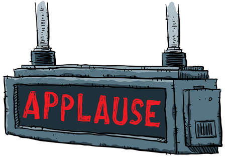 instruct: A lit applause sign.