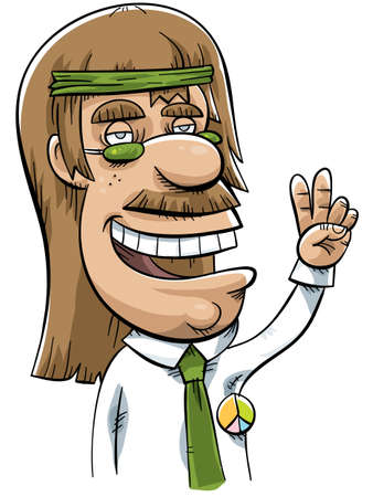 A hippie who has become a businessman. Stockfoto