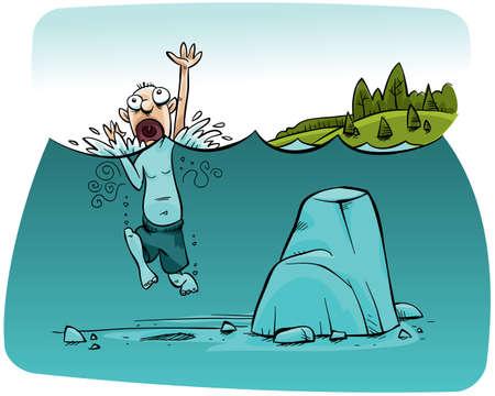 ahogandose: Un hombre que se ahoga doesn t das cuenta de que es un paso de seguridad