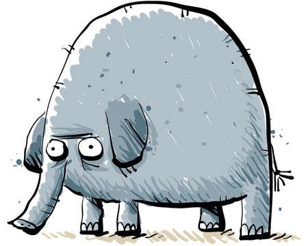 Een cartoon olifant.