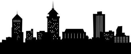 city: Cartoon skyline silhouette of the city of Fresno, California, USA.