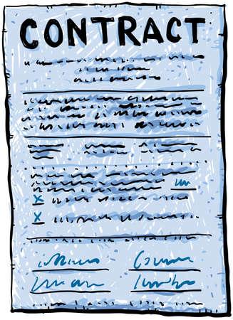 Een cartoon contract Stockfoto - 22152817