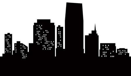 jersey: A cartoon skyline of Jersey City, USA  Stock Photo