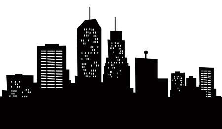 A cartoon skyline of Newark, New Jersey, USA