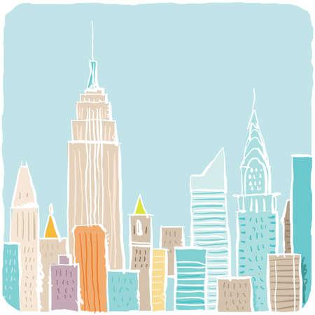 ニューヨーク市、米国のライト、緩い漫画