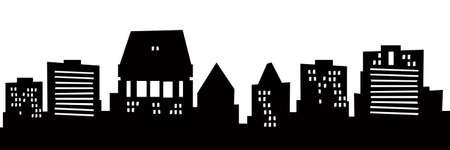 christchurch: Cartoon skyline silhouette of the city of Christchurch, New Zealand