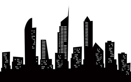 gold coast: Cartoon skyline silhouette of the city of Gold Coast, Australia