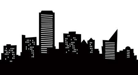 adelaide: Cartoon skyline silhouette of the city of Adelaide, Australia