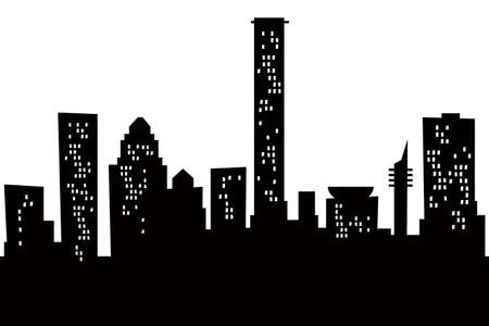 Cartoon skyline silhouette of the city of Tel Aviv, Israel