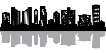 honolulu: Cartoon skyline silhouette of the city of Honolulu, Hawaii