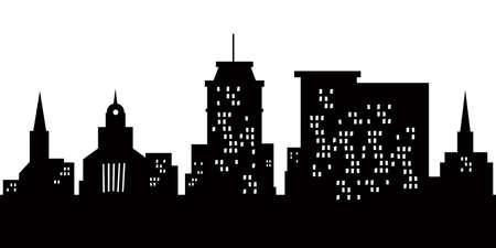 Cartoon skyline silhouette of the city of Lancaster, Pennsylvania, USA  Stockfoto