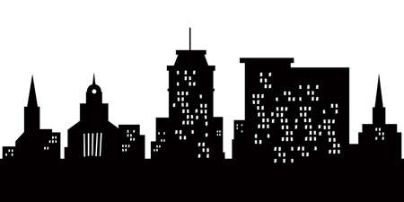 Cartoon skyline silhouette of the city of Lancaster, Pennsylvania, USA  版權商用圖片