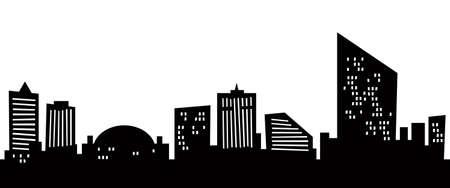 Cartoon skyline silhouette of the city of Atlantic City, New Jersey, USA  photo