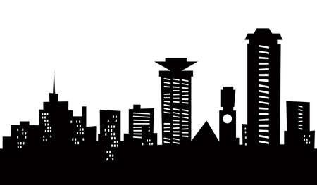 ナイロビ、ケニアの都市の漫画スカイライン シルエット