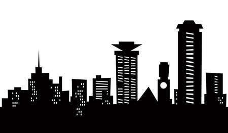Cartoon skyline silhouette of the city of Nairobi, Kenya