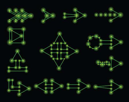 メディア プレーヤー コントロール ボタン アイコン、レトロで 1980 年代はベクトルのスタイルです。