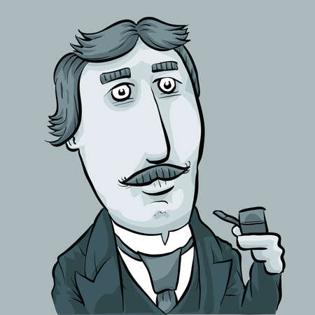 dapper: A cartoon of a dapper man from a past era.