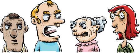 한 만화 집단은 사물에 대해 논쟁 중이다.