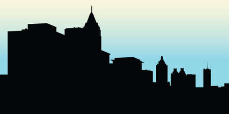 atlanta: Skyline silhouette of the city of Atlanta, Georgia, USA.