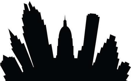 austin: A cartoon skyline silhouette of the city of Austin, Texas, USA.