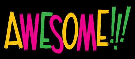 Cartoon text of the word AWESOME