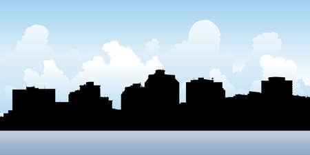 halifax: Skyline silhouette of the city of Halifax, Nova Scotia, Canada