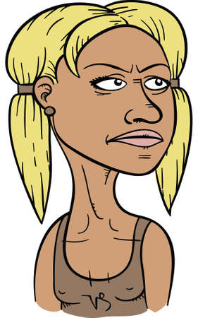 A cartoon woman representing the astrological sign of Capricorn.