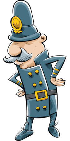 victorian people: A cartoon policeman in historic dress.