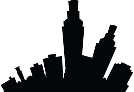 Cartoon skyline silhouette of the city of Corpus Christi, Texas, USA.
