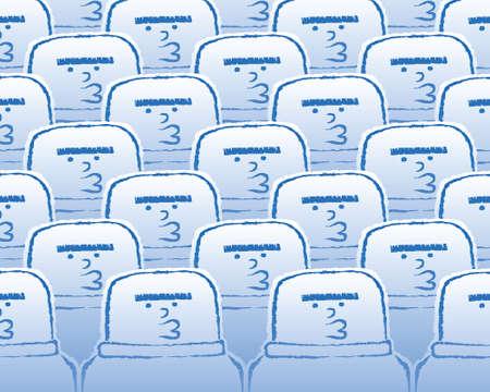 A crowd of cartoon clones