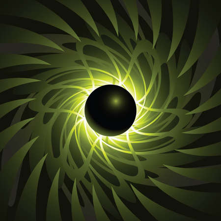 black hole: A black hole backdrop at the edge of time and space.