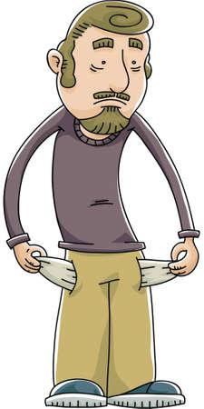 漫画破った男引っ張る彼の空のポケット内側 写真素材 - 29155994