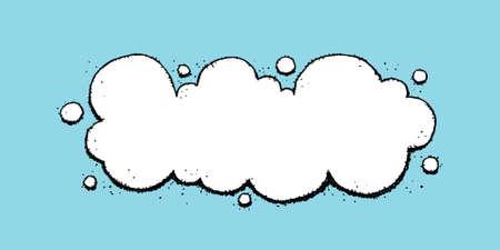 A blank, cartoon thought bubble design element  Stok Fotoğraf