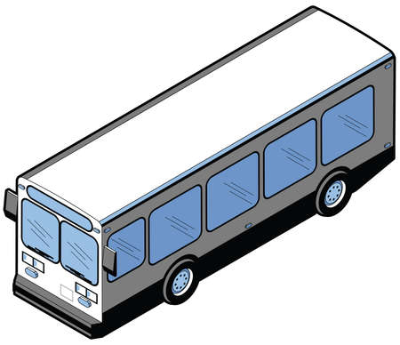 Isometric diagram of a passenger bus